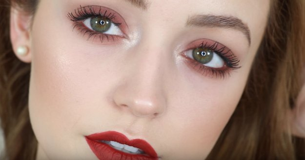 Red-Brown-Makeup-for-Green-Eyes-07